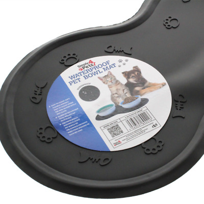 WATERPROOF PET BOWL MAT Place mats Grip Non Slip Dog Cat Food Water Silicone NEW