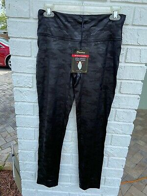 Women Shinestar NWT High Waist Tummy Tucker Leggings Large 88% Polyester Spandex