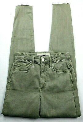 Joes Jeans Womens The Charlie High Rise Skinny Ankle Jeans 24 Green Wash Raw Hem