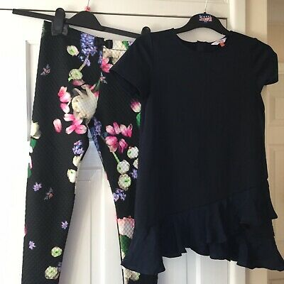 Girls Age 11-12 Ted Baker Top and Leggings