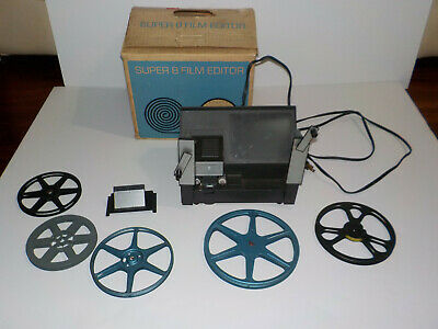 Vintage Atlas Warner Super 8 Film Editor Model 300 in original box