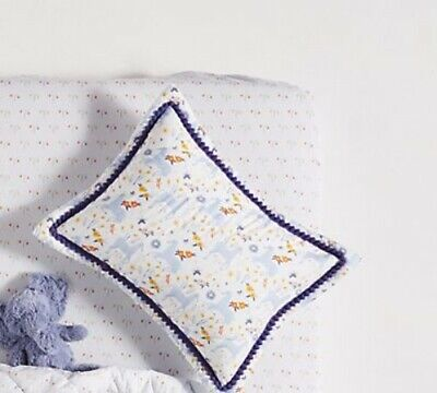 Anthropologie Yelena Bryksenkova Unicorn Meadow Quilted Toddler Sham BLUE NEW!