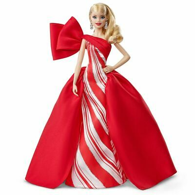 2019 Holiday Barbie Blonde Doll FXF01 New Damaged Box