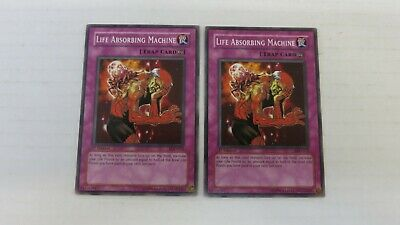 Yugioh Life Absorbing Machine LOD-012 Common 3X NM//MINT 1st Edition