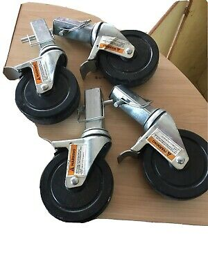 "SCAFFOLDING CUSTOM HEAVY DUTY 5"" SWIVELIN WHEEL CASTER SET 4 PIECES W/locks"