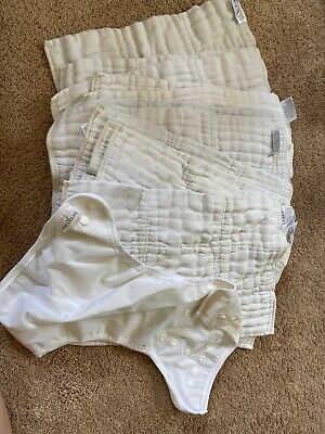 econobum cloth diaper inserts lot of 10 with One Cover