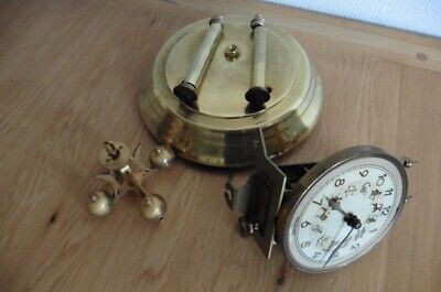 GERMAN 400 DAY ANNIVERSARY CLOCK WITH ASTROLOGICAL FEATURED DIAL CIRCA 1950s