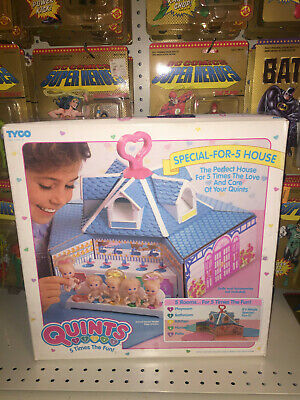 Vintage (1989) QUINTS Special-For-5 House Dolls TYCO MINT IN BOX