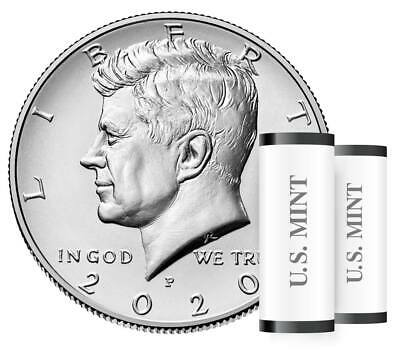 2020 P & D JOHN F KENNEDY HALF DOLLAR SET**(2 Coins From Mint Rolls)**Pre-Sale**