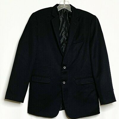 Dockers Blazer Men 16R Black Two Buttons Front Pockets Long Sleeve Work Office