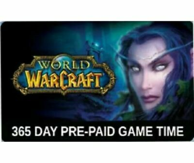 World of Warcraft 1 Year (12 months) Game time Subscription Code - EUROPE