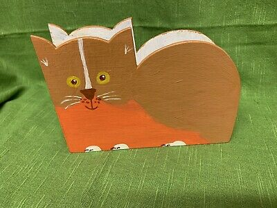 Box LH00031735 /'Cat On A Wall/' Wooden Letter Holder