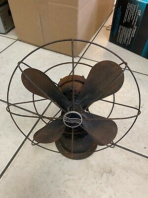 Vintage Westinghouse Style 868862 4 Brass Blade Electric Fan For Parts