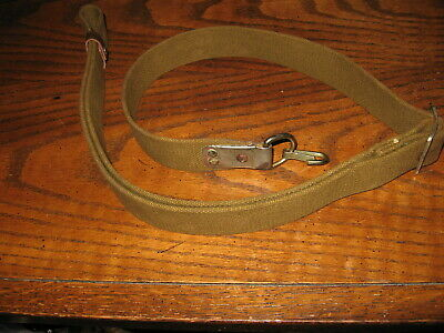 Used Soviet green web sks rifle sling Russian stamp OTK 7.62x39