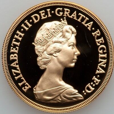 1984 UK Great Britain Gold Proof 5 Pounds.