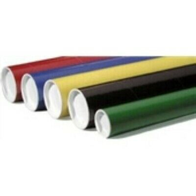 """24 - 3 x 12"""" Black  Tube with Plastic End Caps"""