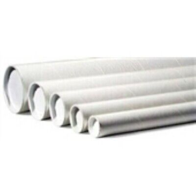 """50 - 2 x 18""""  White Tube - End Cap Included"""