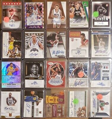 HUGE Basketball 200 Card Lot, Auto Autograph, Game Used and Jersey Relic ONLY