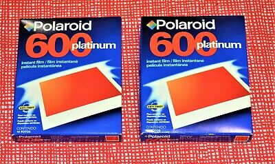 Polaroid 600 Platinum Instant Film 2 Packs 20 Photos SEALED Packs EXP 02/02