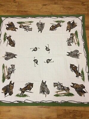 Vintage New Collectable Retro Horses Tablecloth