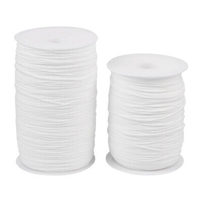 2rolls/500g White Flat Nylon Elastic Cord Stretch String DIY Craft Thread 2~3mm