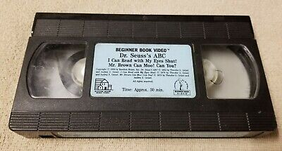 DR. SEUSS'S ABC Beginner Book Video VHS Tape MR. BROWN CAN MOO I Can Read With..