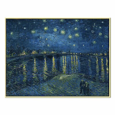 Canvas Print Pic Wall Art Painting Repro Home Decor Van Gogh Starry Night Framed