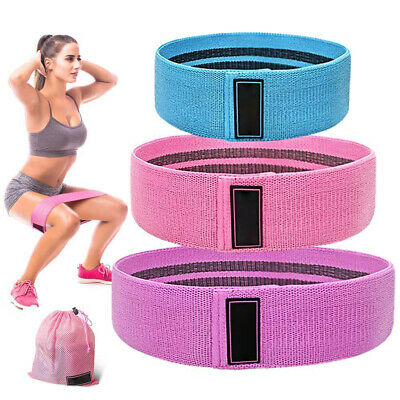 UK EVO Fabric Resistance Bands Butt Exercise Loop Circles Set Legs Glutes Women