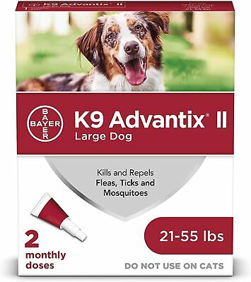 Bayer K9 Advantix II Flea, Tick and Mosquito Prevention for Large Dogs, 21 - 55