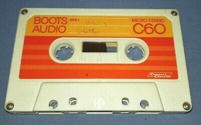BOOTS AUDIO MICRO-FERRIC C60 USED BLANK cassette tape NO INLAY