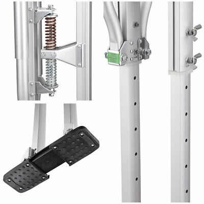 50 inch - 64 inch Aluminum Drywall Stilts Height Adjustable Lifts Tool Silver