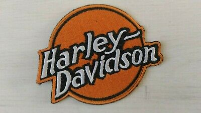 Patch écusson Harley  biker moto orange