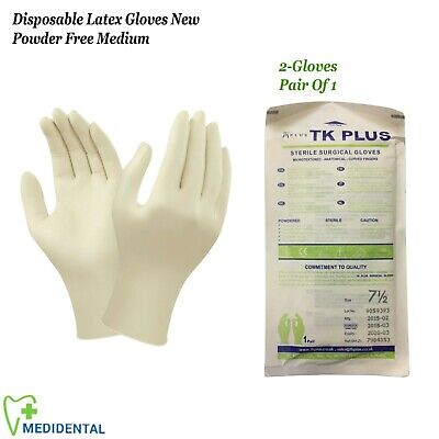 Examination Disposable Latex Gloves New Powder Free Natural Rubber Size - Medium