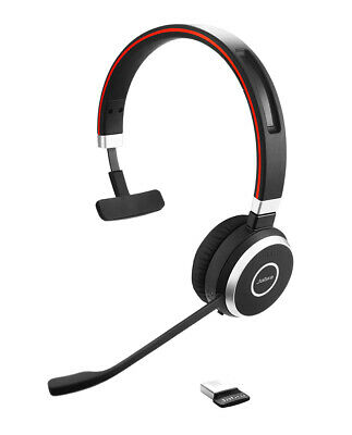 Jabra Evolve 65 UC Mono Wireless Headset / Music Headphones  NEW