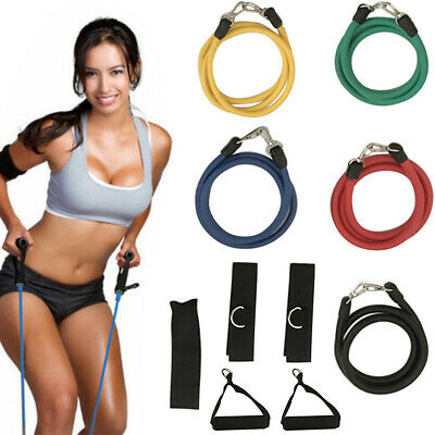 Resistance Bands 11 Fitness Set - Exercise Glutes Yoga Pilates Home Gym Workout