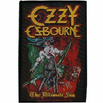 Ozzy Osbourne The Ultimate Sin Sew On Patch Official Heavy Metal Band Merch New