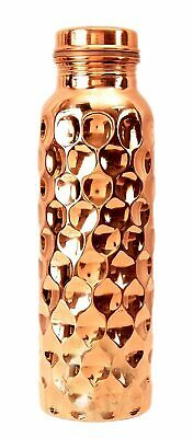 Pure Copper Diamond Design Hammered Water Bottle 950 ml Free Ship