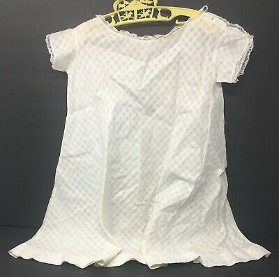Vintage Toddler Girls Victorian Petticoat Slip Dress With Lace Trim
