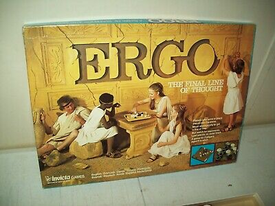1977 Ergo strategy game by Invicta great family game Complete in great shape