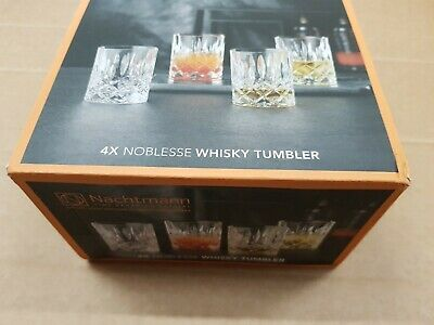 Nachtmann 89207 Noblesse Whisky Glasses Tumbler, Crystal, Clear