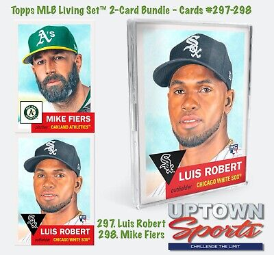 Topps Living Set Bundle Cards #297-298 Wk 107  - Luis Robert - Mike Fiers
