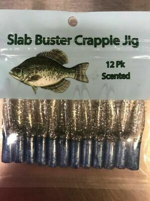 CHART SILVER Slab Buster 2 Inch Crappie Lure Scented Jigs SB1809 RED