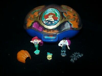 EUC 100% Vintage Disney Polly Pocket The Little Mermaid Playcase 1996