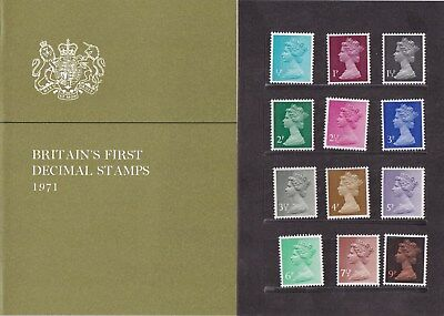 GB 1971 Britains First Decimal Stamps Presentation Pack with 2d Flaw Mint