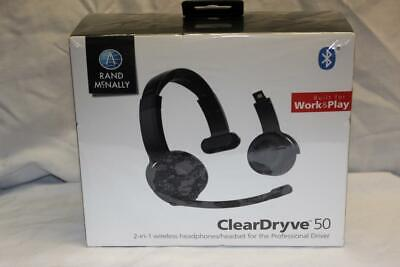 Rand McNally ClearDryve 50 2-in-1 wireless Headphones/Headset   NEW!