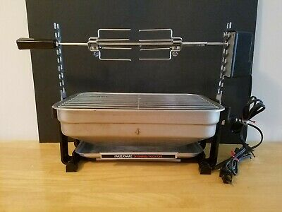 Farberware Open Hearth Smokeless Indoor Rotisserie Grill - Lightly Used Conditon