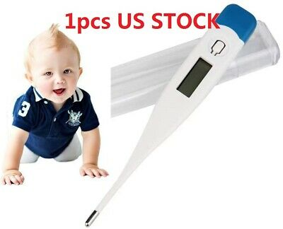 US STOCK 1x Household Baby Adult Body Safe Oral Digital LCD Thermometer Medical