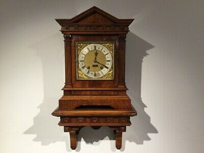 A lovely walnut Late Victorian Period antique bracket clock