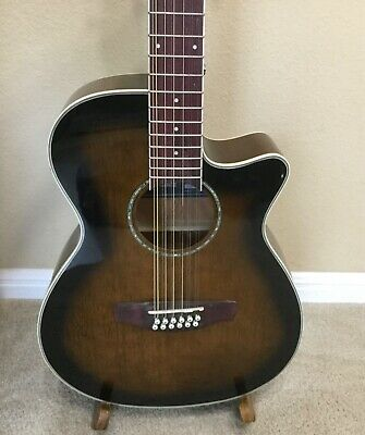 Ibanez AEG1812II 2007 12-String Acoustic Electric Guitar - Dark Vintage Sunburst