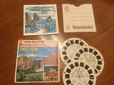 VIEW MASTER  3 Scheiben PIKES PEAK + COLORADO SPRINGS AREA